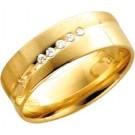 Goldring Gelbgold mit Diamanten