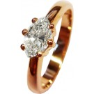 Diamantring Rotgold mit Brillanten